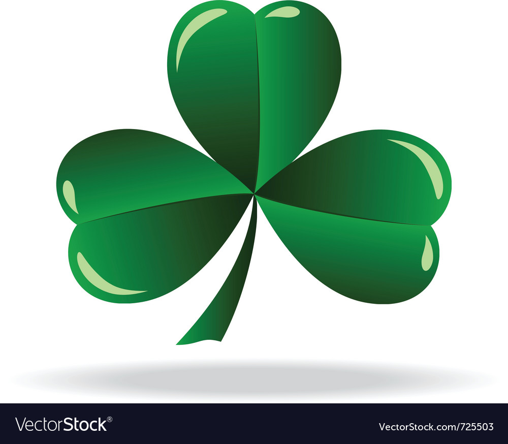 Icon shamrock vector