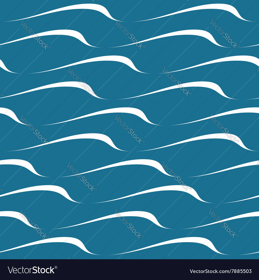 Wave seamless pattern vector