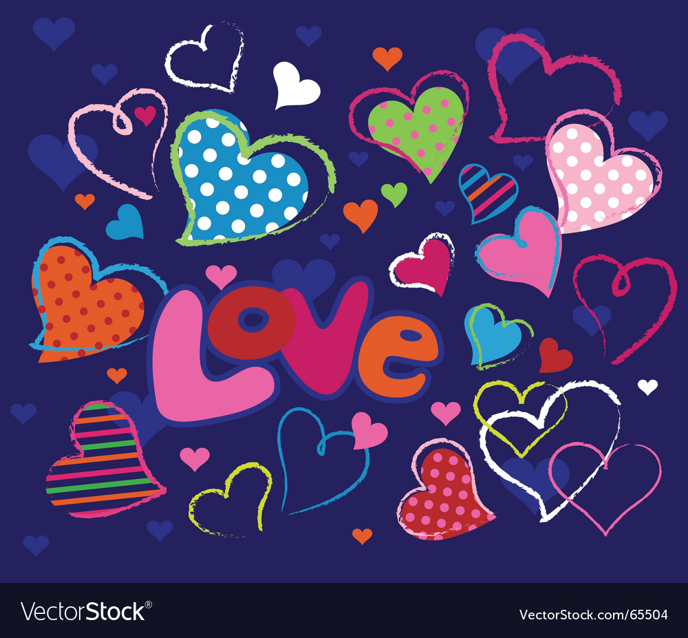 Cute love design elements vector
