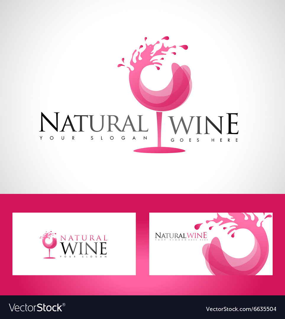 Wine glass logo vector