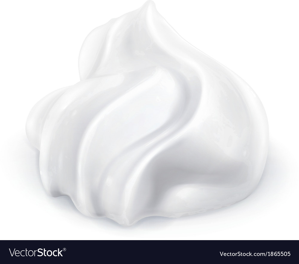 Whipped cream icon vector