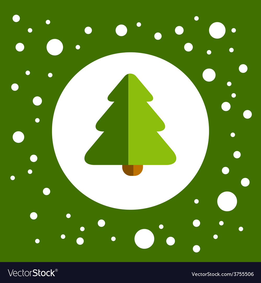 Greenchristmastree vector