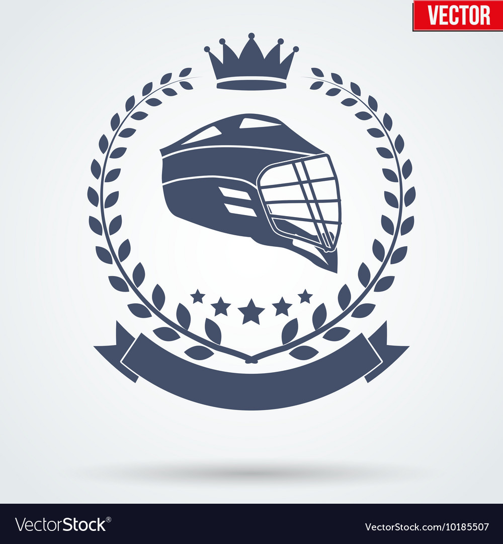 Lacrosse club badge and label vector