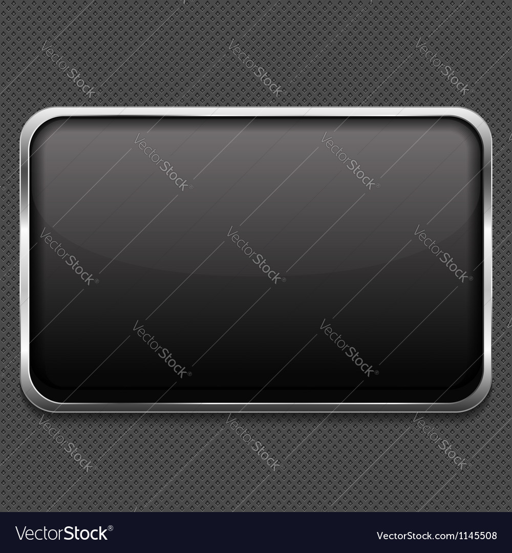 Frame on metal background vector