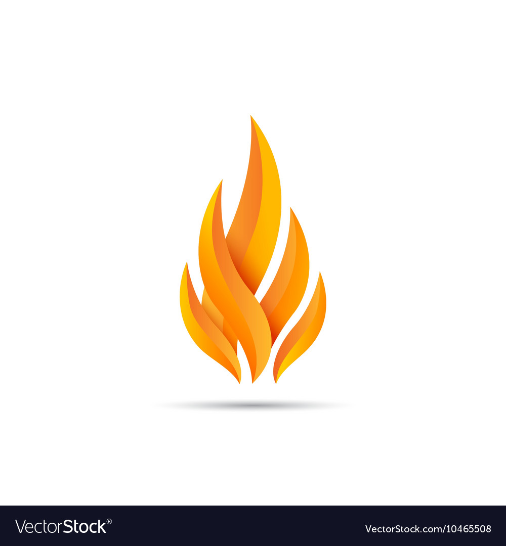 Modern fire icon vector