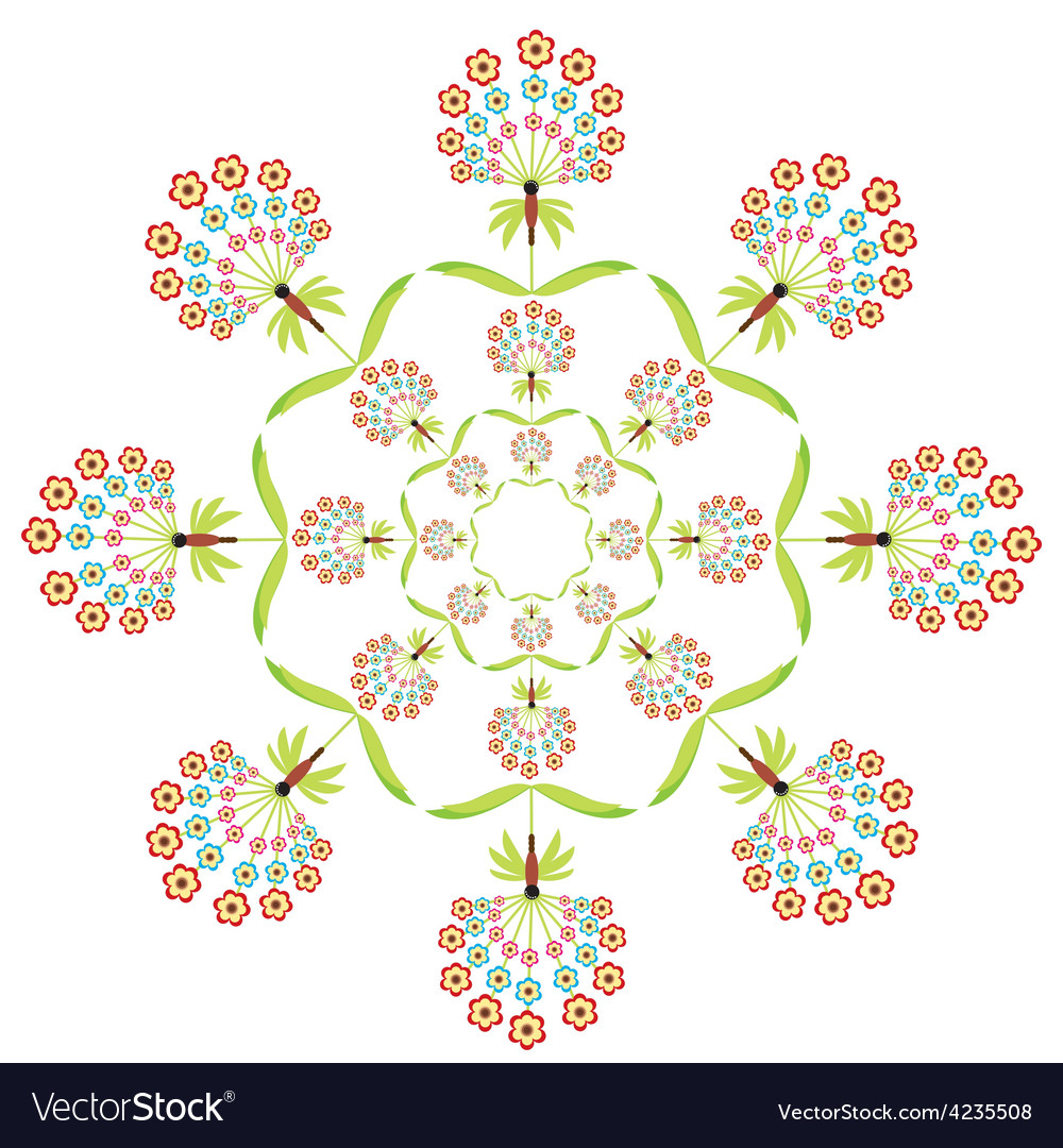 Round embroidery vector