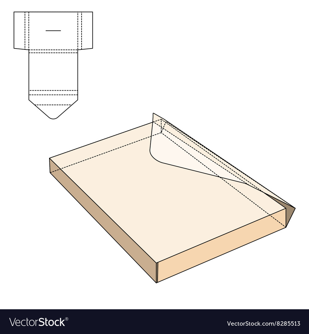Envelope fold template vector