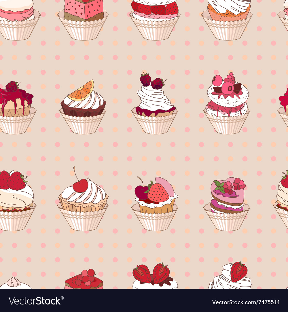 Seamless pattern with different kinds of fruit vector
