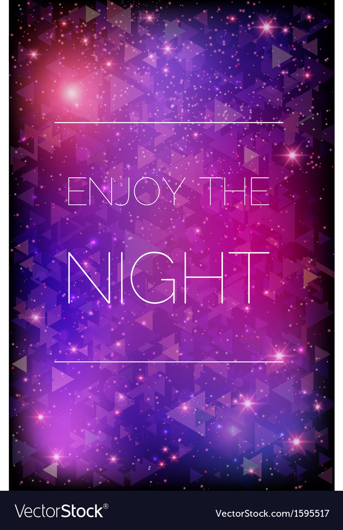 Glittering stars on purple background vector