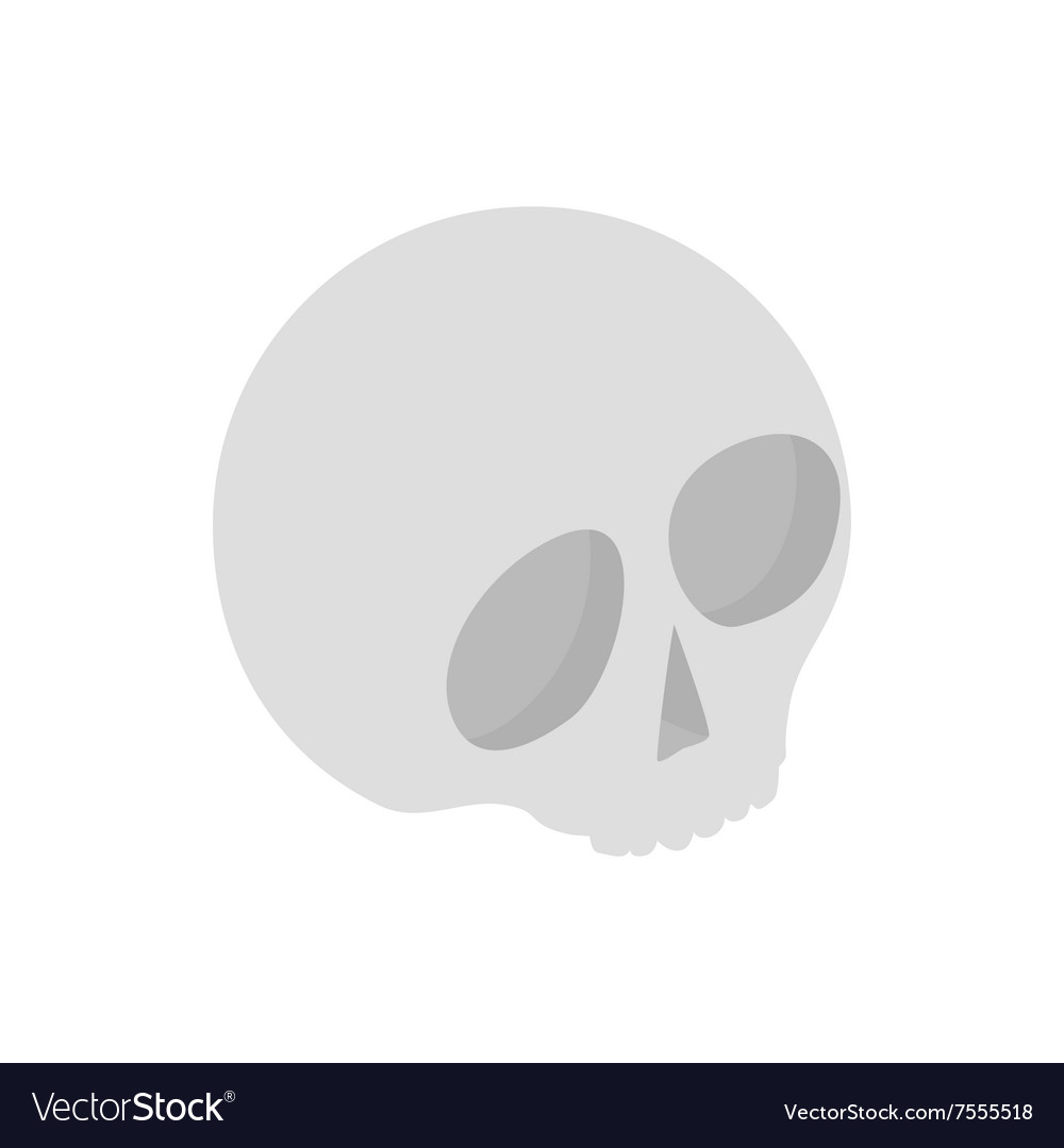 Human skull isometric 3d icon vector