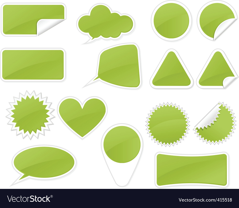 Sticker badge vector