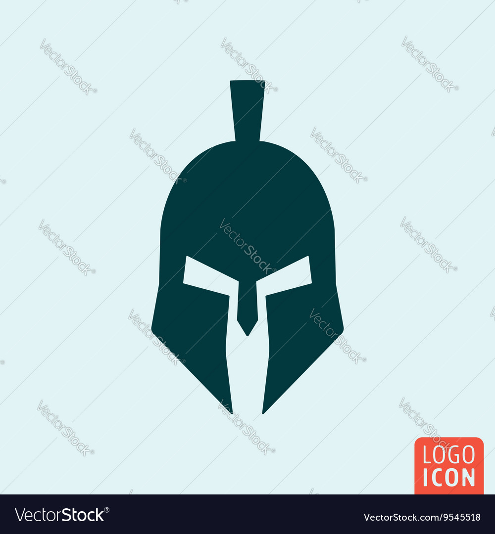 Trojan helmet icon vector