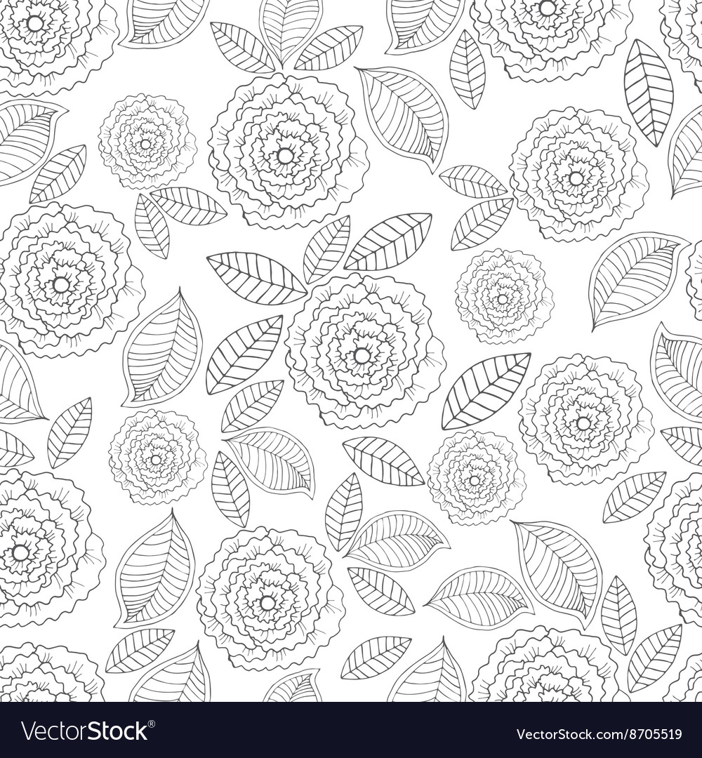 Ornate seamless pattern with the stylized vector