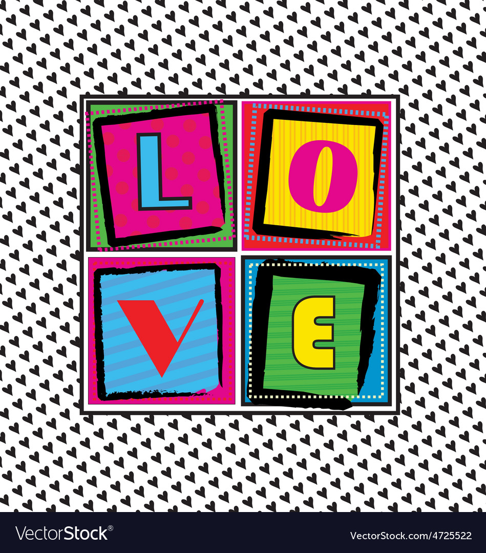 Cool love card vector