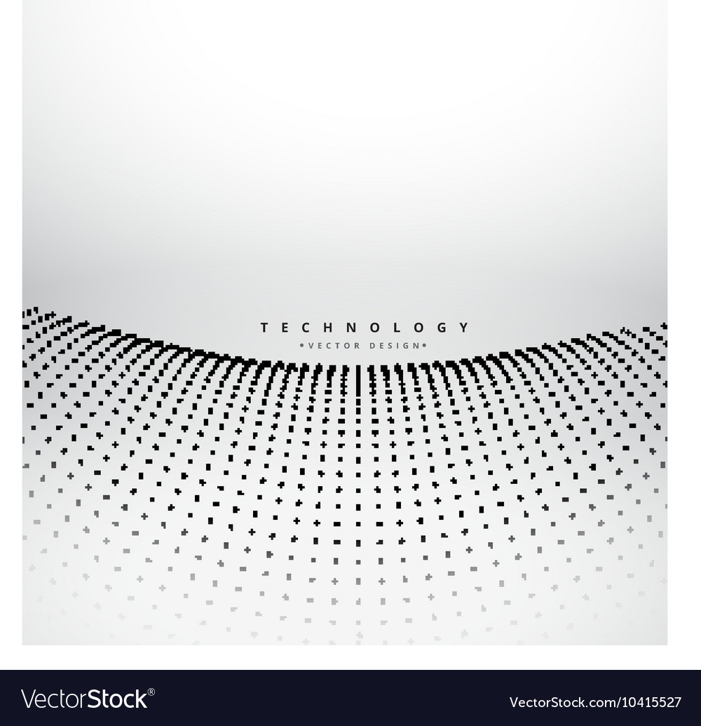 Mesh dot wave background vector