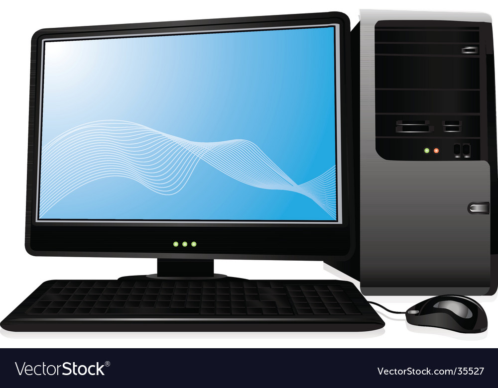 Personal computer monitor vector