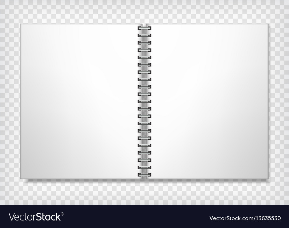 Notebook blank mockup vector