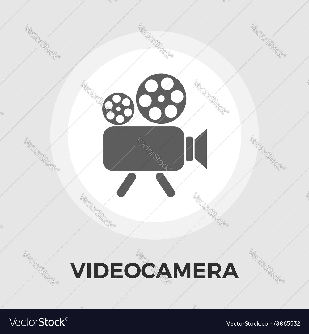 Video camera flat icon vector
