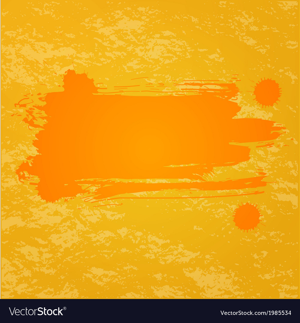 Orange splash background vector