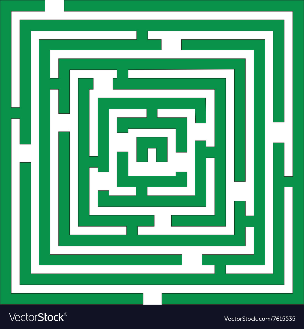 Maze 01 color vector