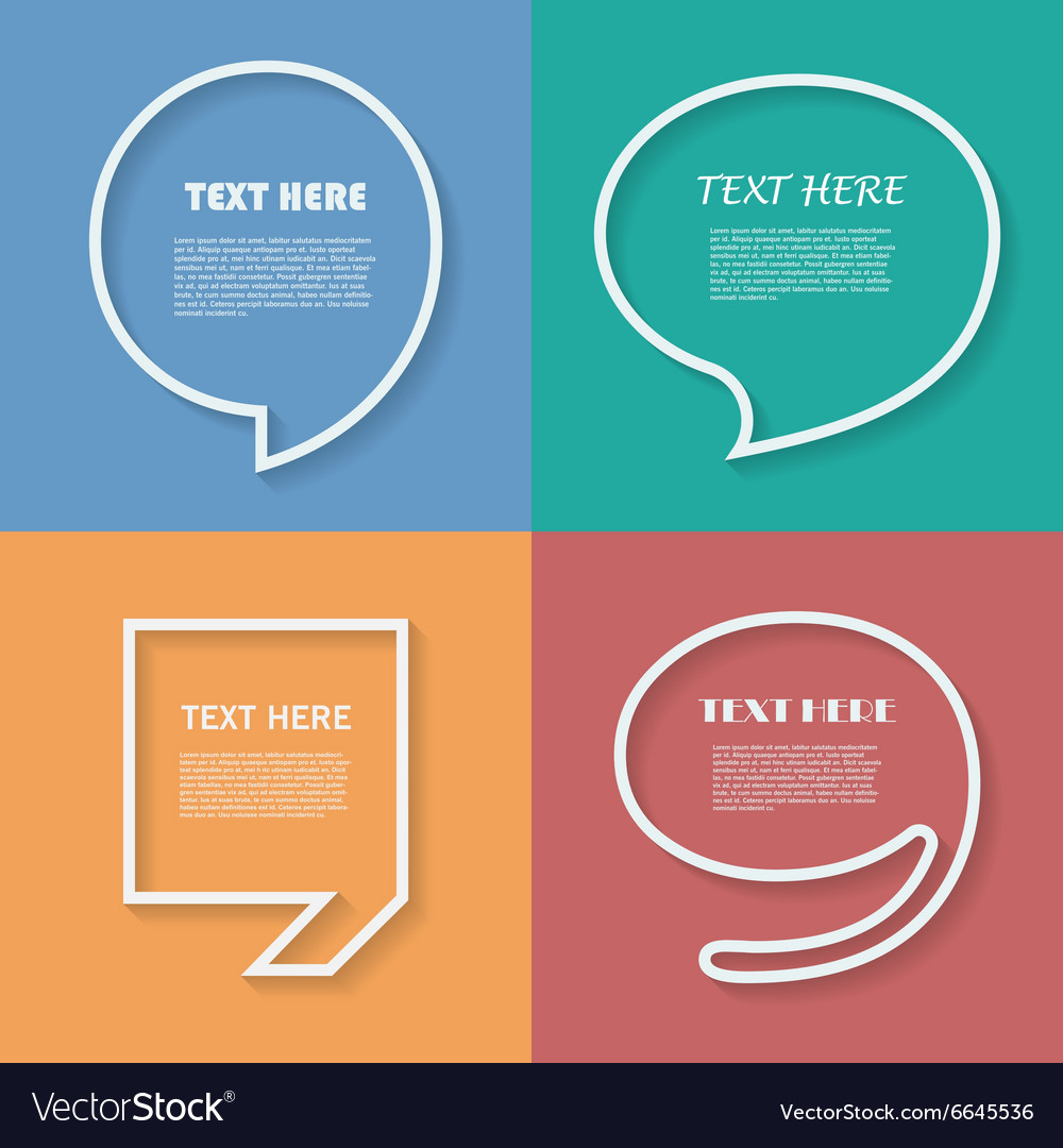 Icon set of quotation speech bubble templates with vector