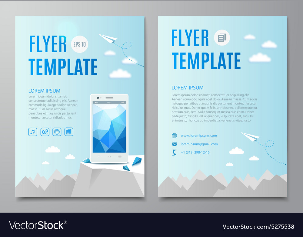 Design layout flyer book cover with modern white vector