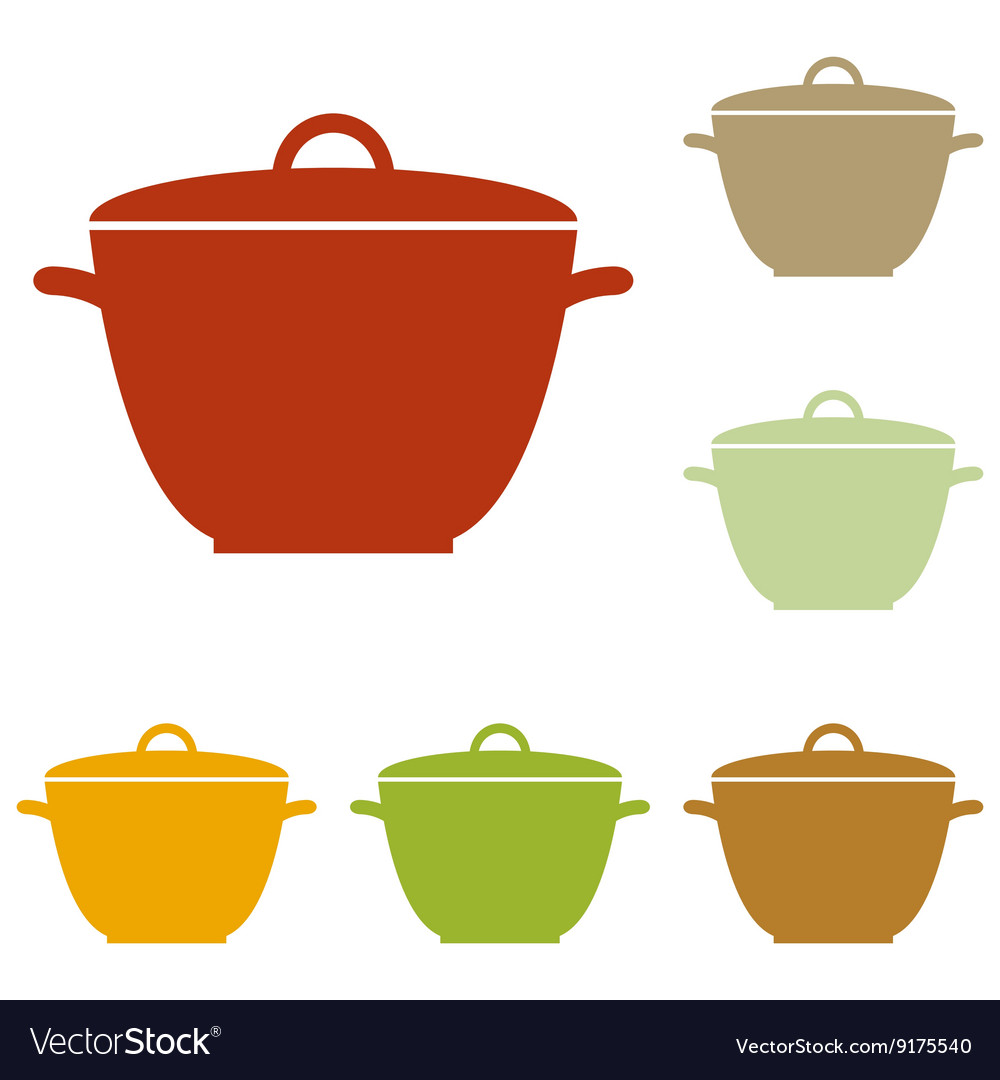 Saucepan simple sign vector
