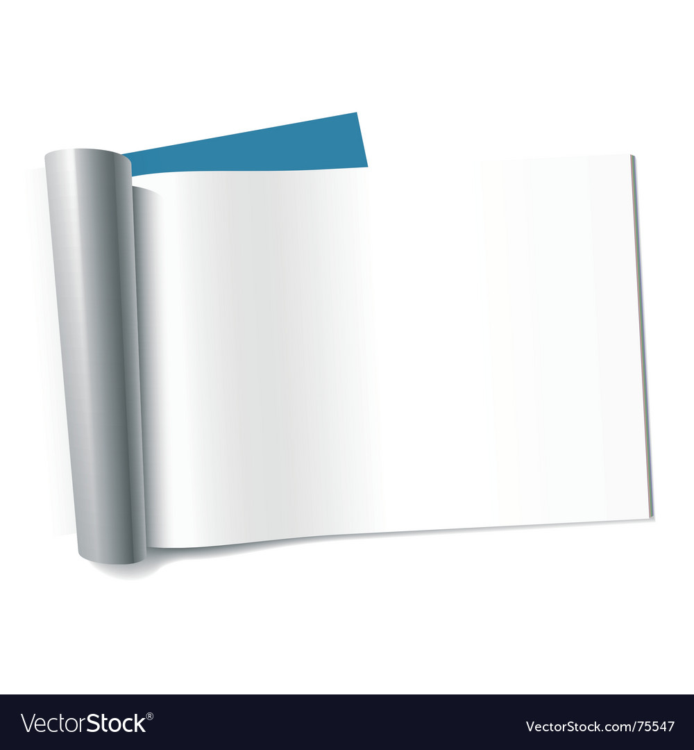 Blank page of magazine landscape vector
