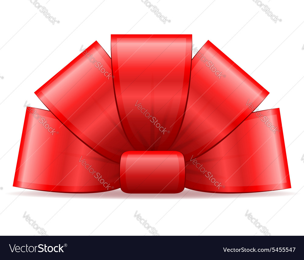 Bow for gift 01 vector