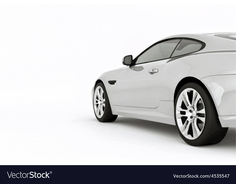 Very fast sport white car vector