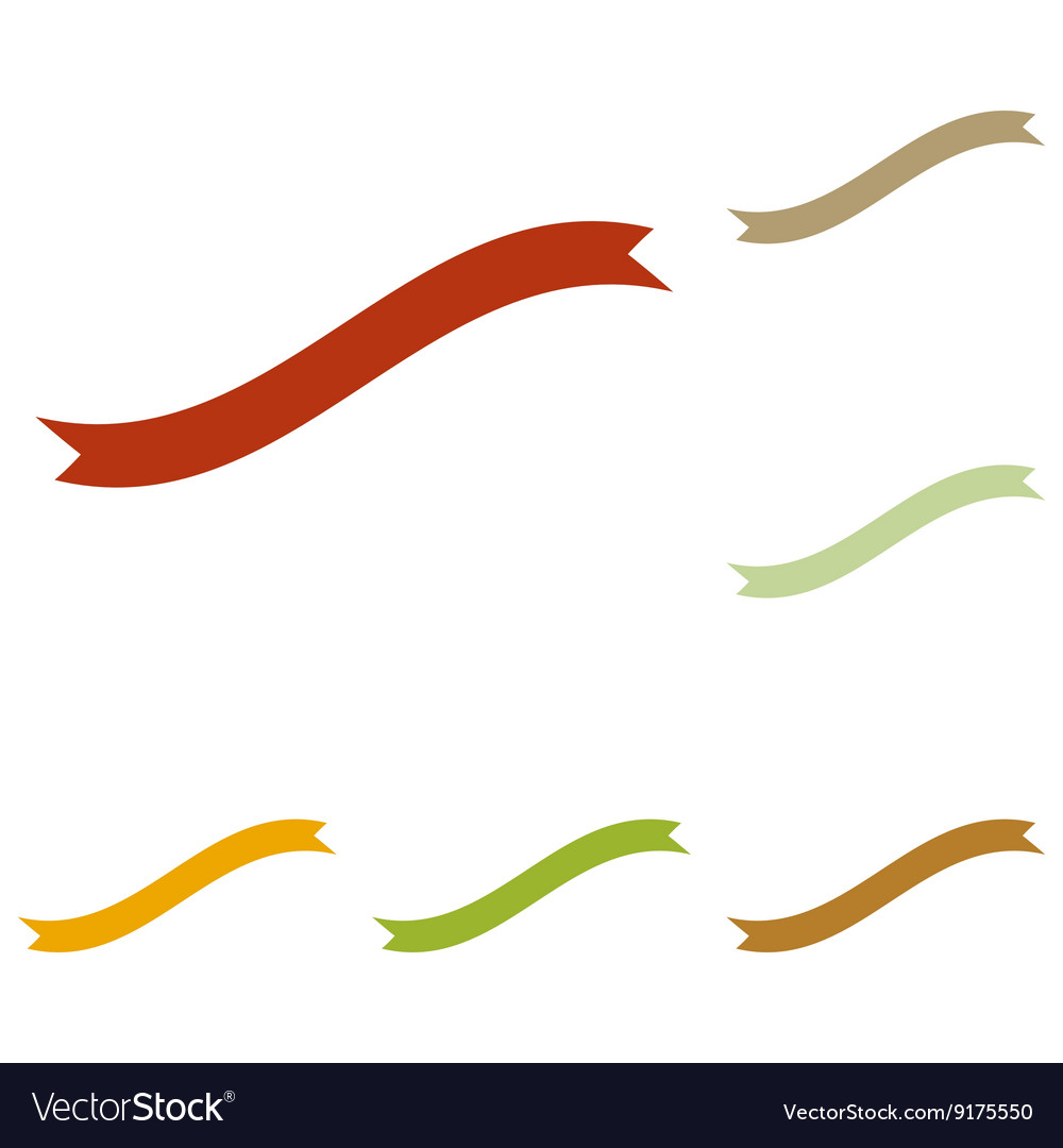 Banner ribbon sign vector