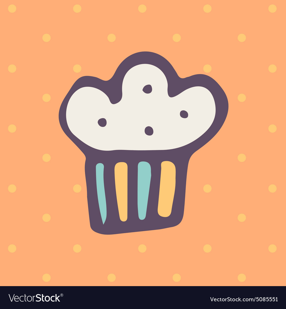Easter cake icon vector
