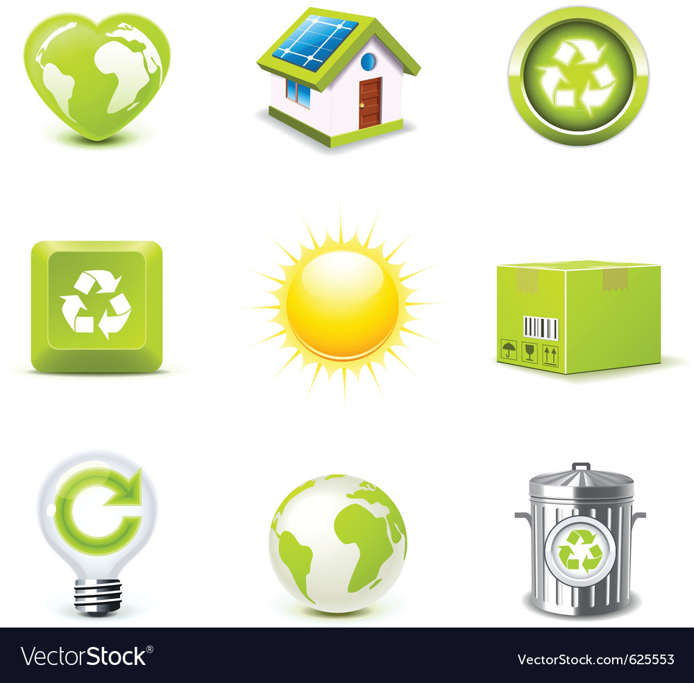 Ecology icons 1  bella series vector
