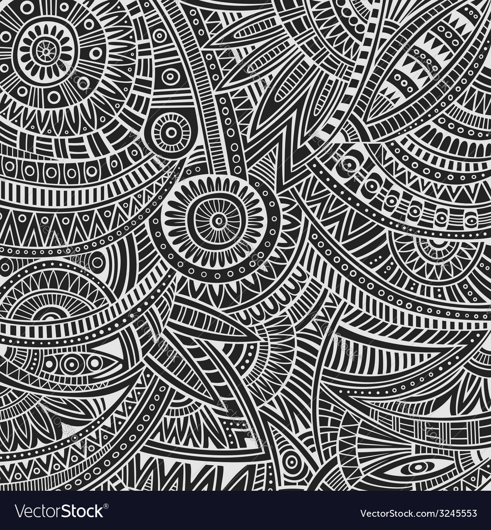 Tribal ethnic background vector