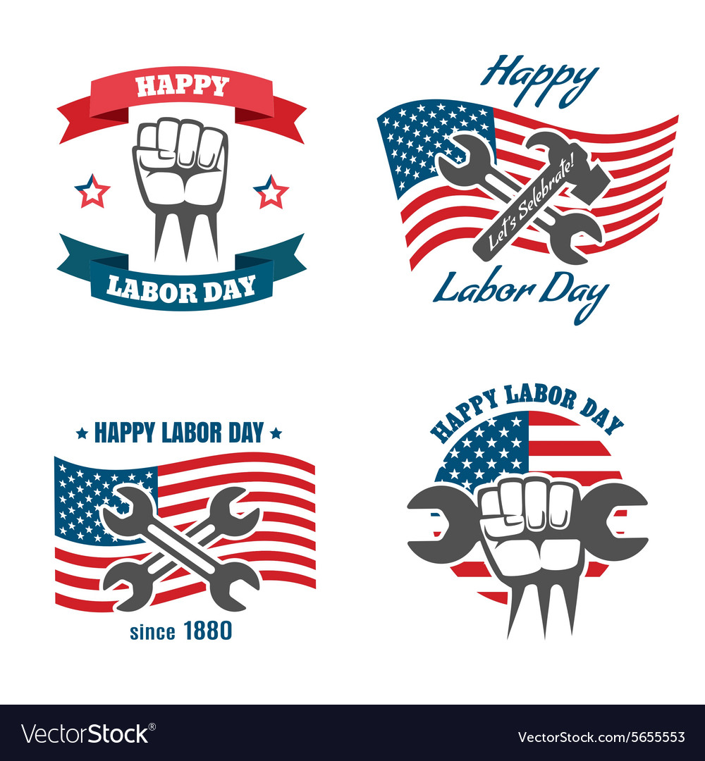 United states labor day national holiday vector