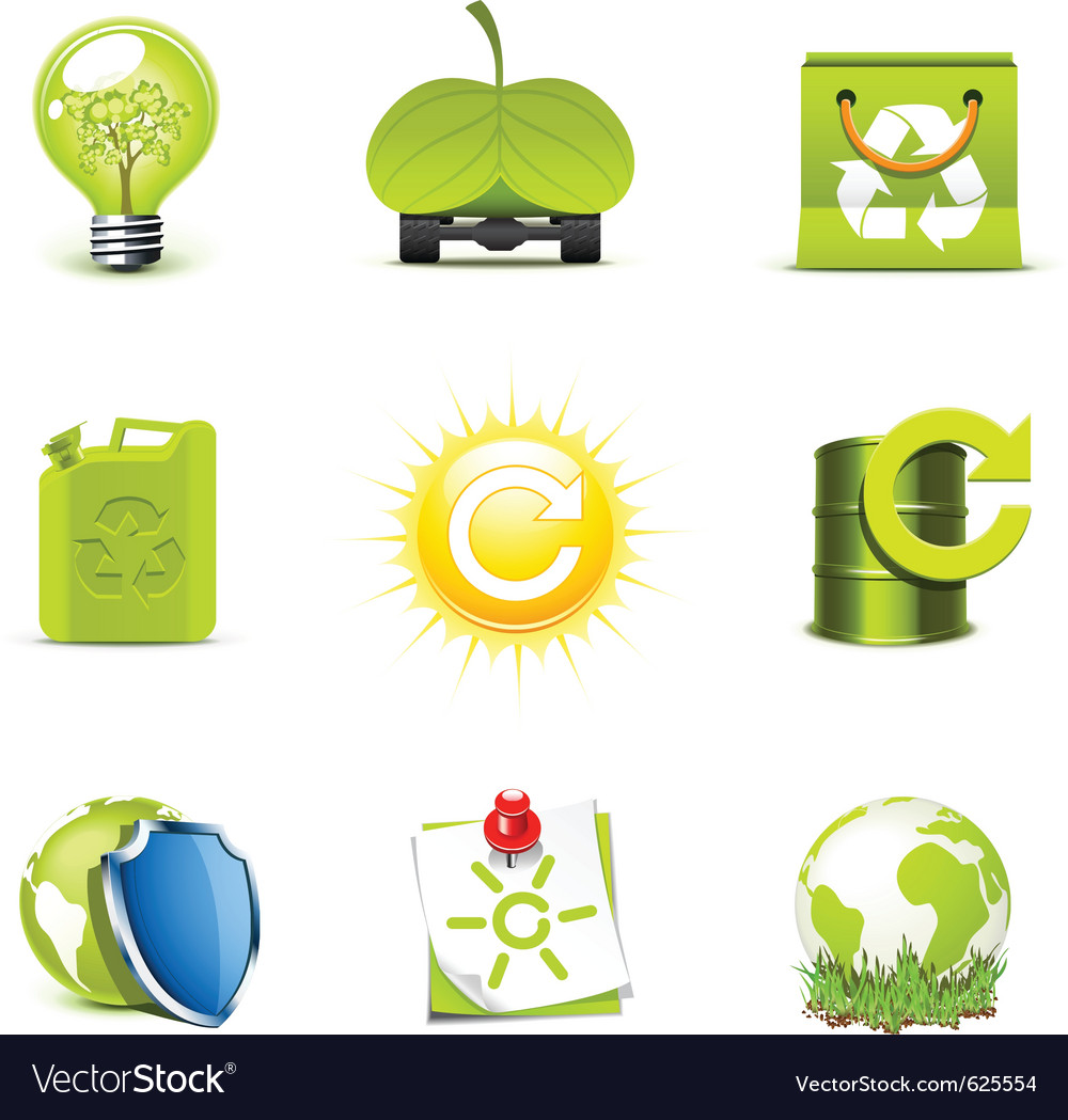 Ecology icons 2  bella series vector