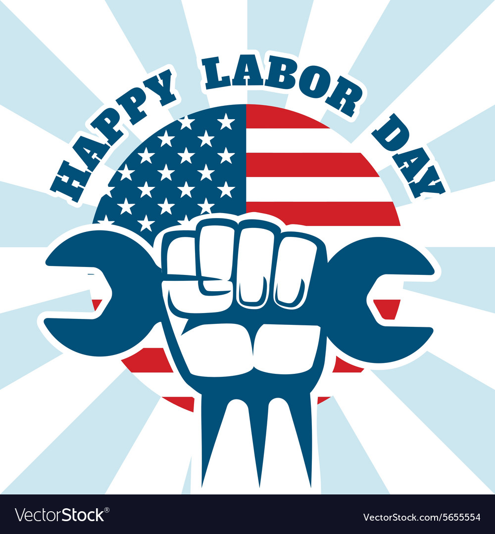 Happy labor day and workers right poster vector