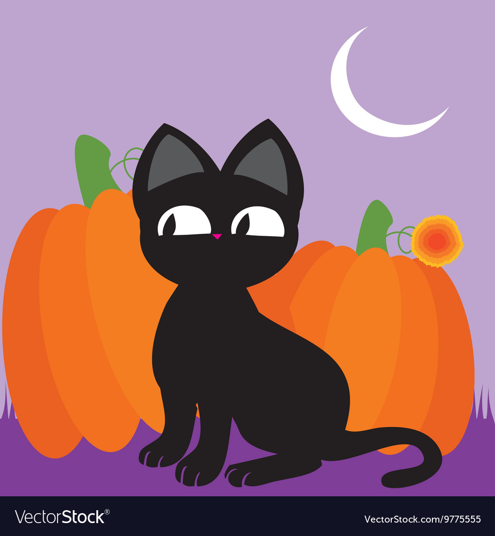 Black cat 2 vector