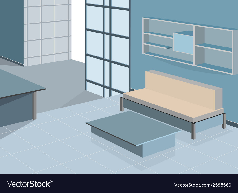 Blue living vector