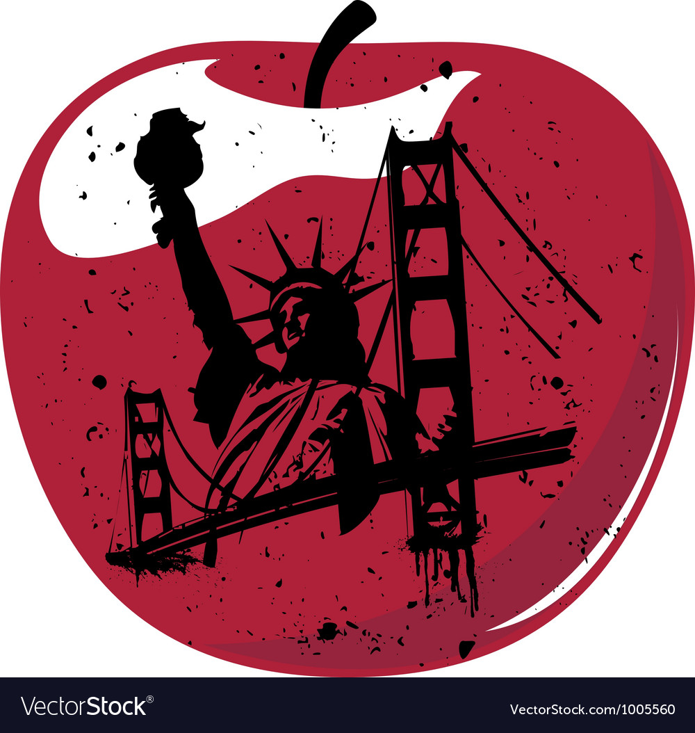New york the big apple vector