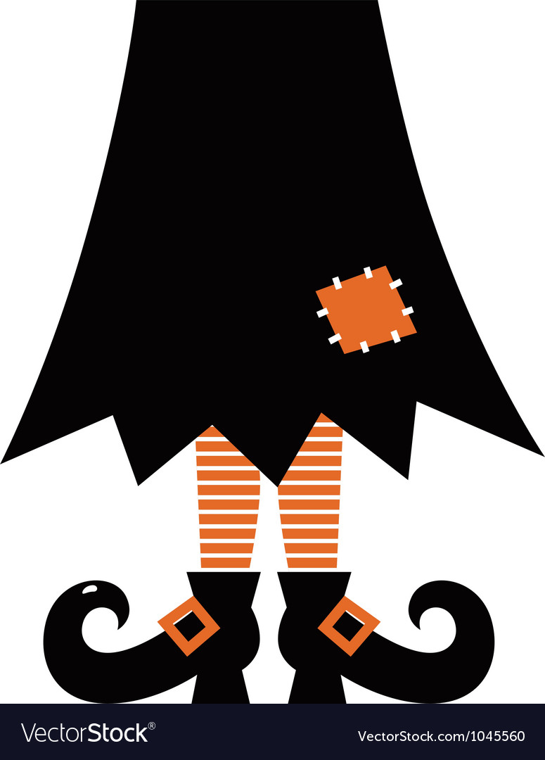 Retro halloween witch vector