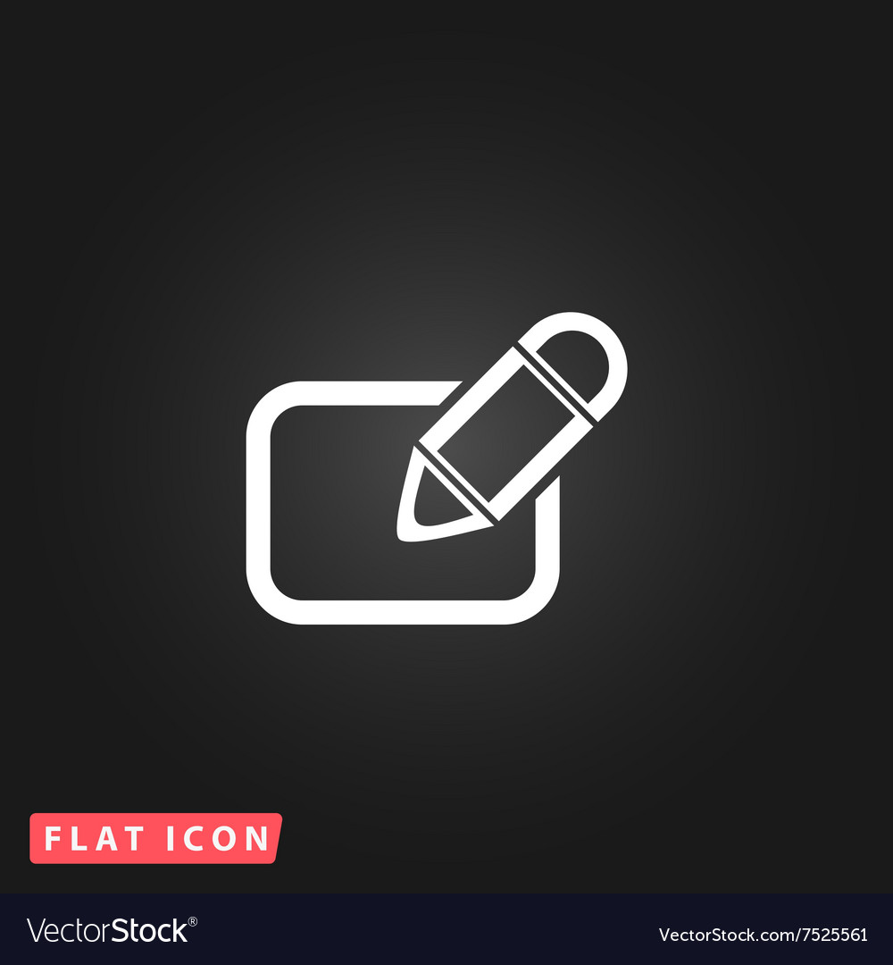 Registration flat icon vector