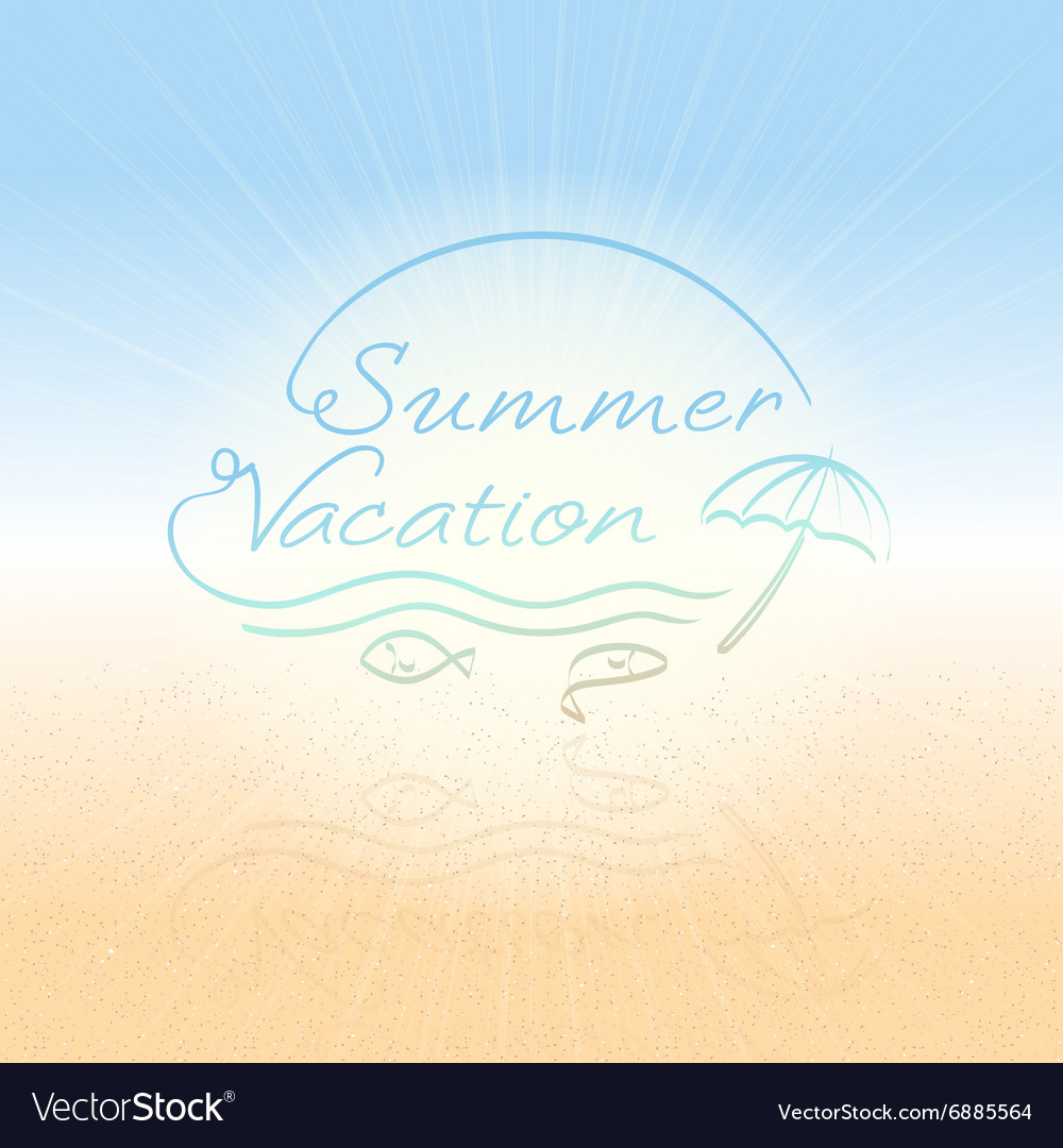 Abstract background summer vacation vector