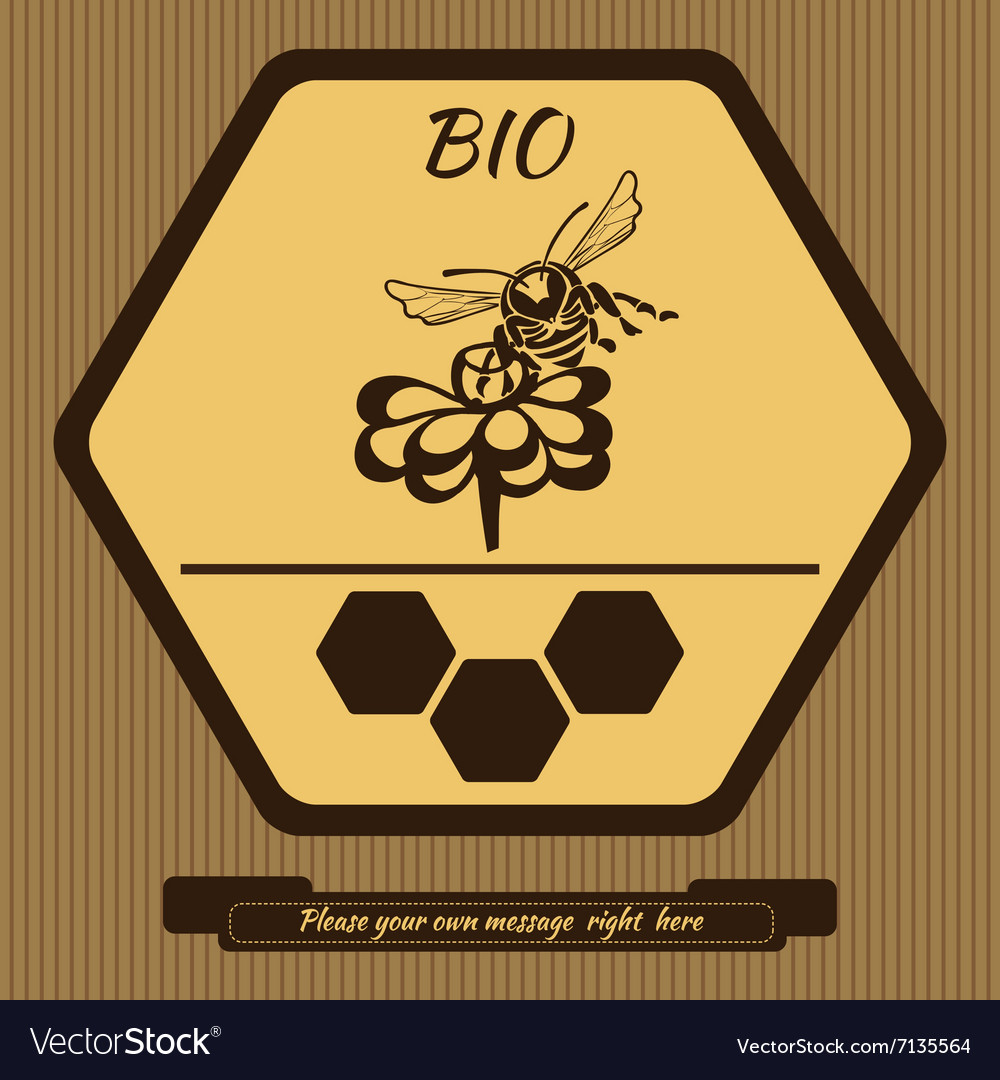 Logo for advertising honey 4 vector
