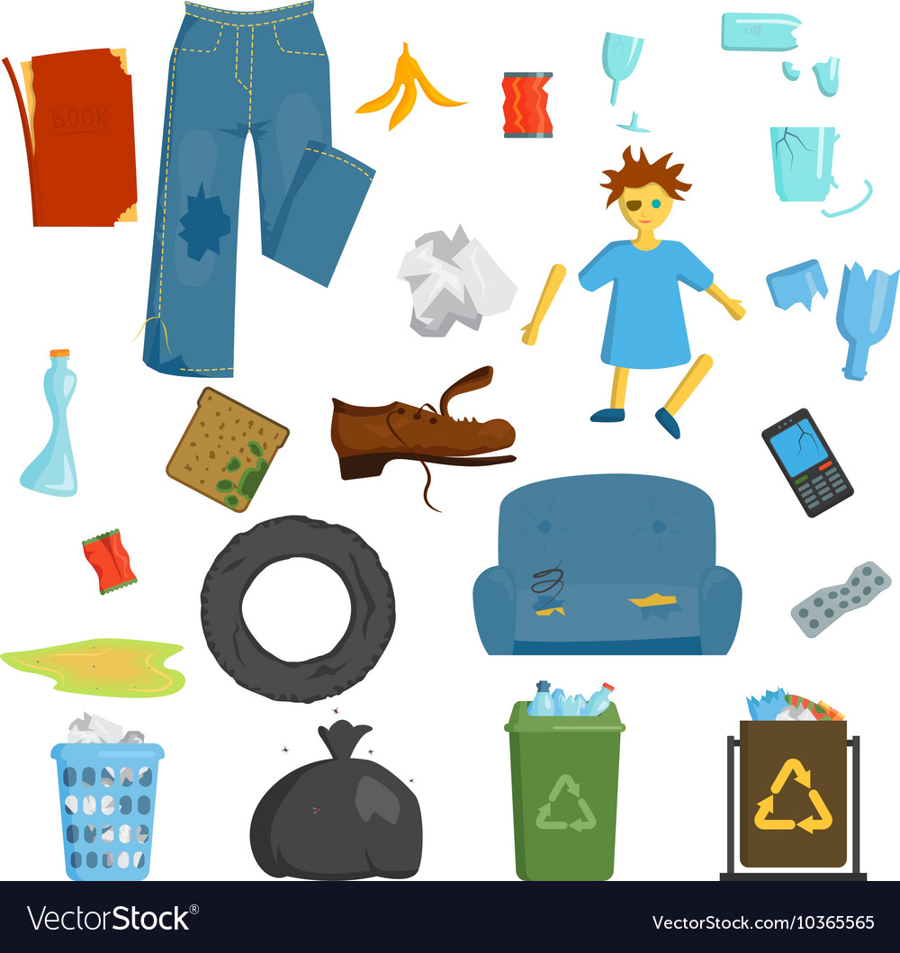Garbage set vector