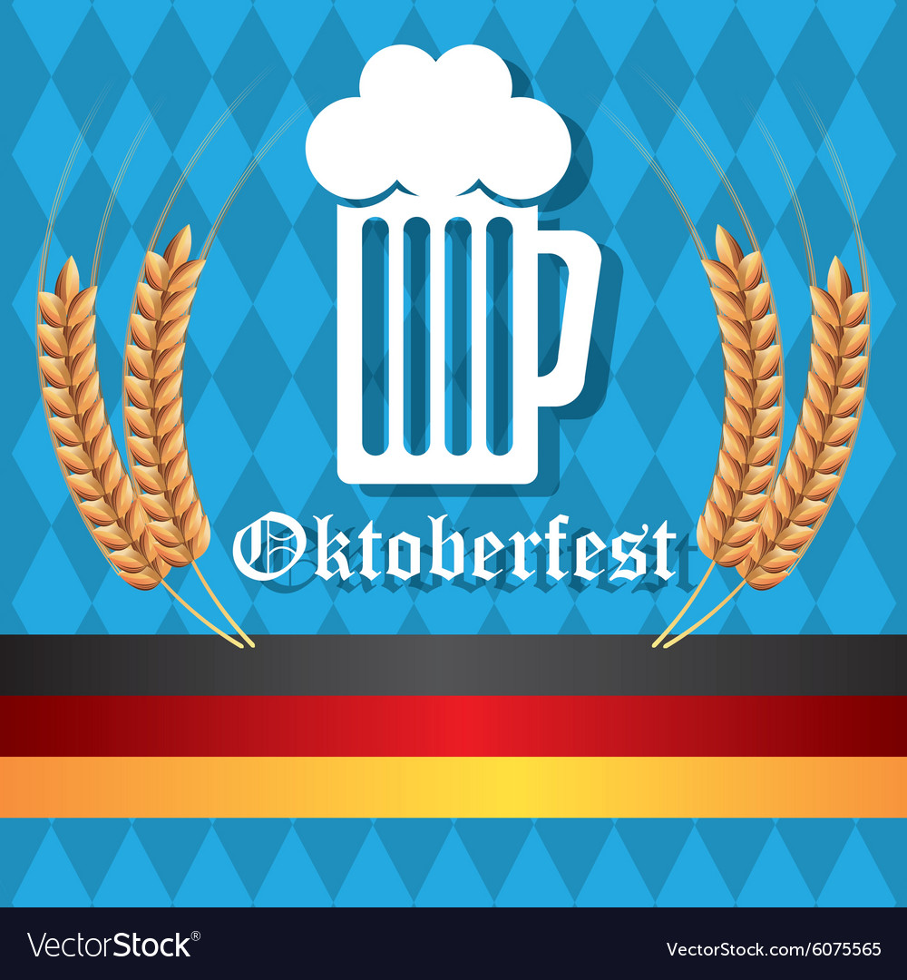 Germany cultures and oktober fest design vector