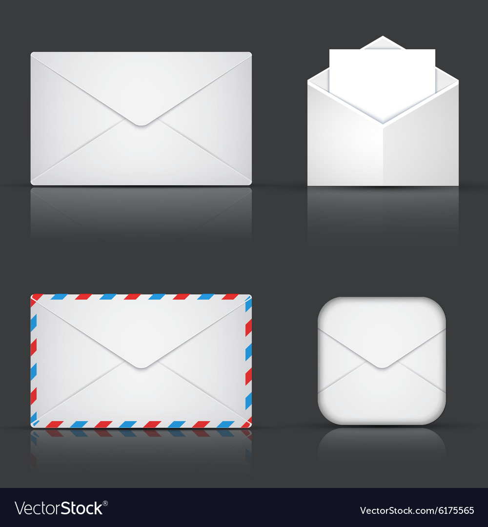 Modern envelope or mail set vector
