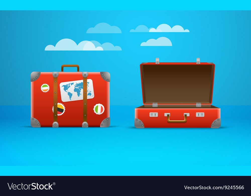 Travel bag vacation design template vector