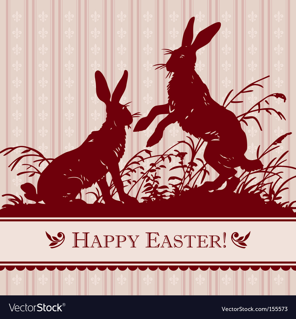 Antique easter background vector