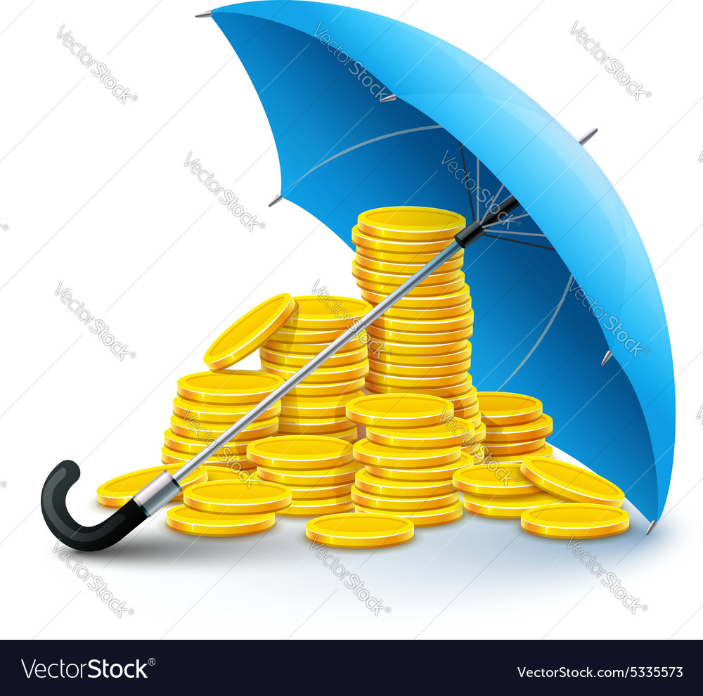 Gold coins money under vector
